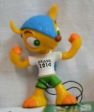 NEW 2014 FIFA Soccer World Cup Brazil Official Mascot Fuleco Figure Flexing
