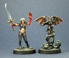Nualia and Erylium Pathfinder Reaper Miniatures D&D RPG Dungeon Wargames Demon