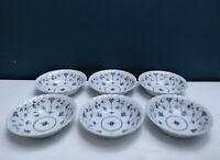 Set of 6 Vintage Myott 'Finlandia' Blue&White Floral Pattern Soup Cereal Bowls