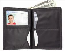 Big Skinny Hipster Leather BiFold SlimWallet Holds up to 40 Cards-Black