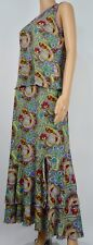 DOUBLE D RANCH FLORAL RUFFLE PAISLEY SKIRT WITH MATCHING TANK SIZE SMALL PRETTY!