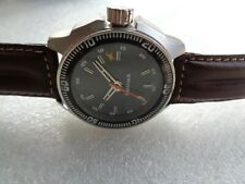 RARE MILITARY STYLE FASTRACK BY TITAN INDIA BLACK DIAL SS MENS QUARTZ WRISTWATCH