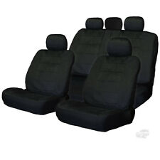 PREMIUM GRADE BLACK VELOUR FABRIC CAR SEAT COVERS SET FOR CHEVROLET