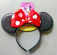 Minnie Mouse Girls Headband with Ears and Red Bow
