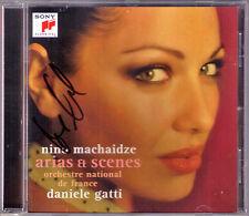Nino MACHAIDZE Signiert ARIAS & SCENES La Traviata Manon Boheme Halmet CD GATTI