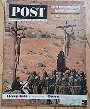 THE SATURDAY EVENING POST OCTOBER 19 1963 BIBLICAL SCENE HUNG ON CROSS COVER
