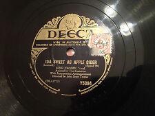 """BING CROSBY """"Ida Sweet As Apple Cider""""/""""Alla En El Rancho Grande"""" 78rpm 10"""" G+"""