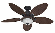 "HUNTER 54"" CARIBBEAN BREEZE TROPICAL WEATHERED BRONZE Ceiling Fan 54095"