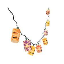 Tiki Head Hawaiian Luau Beach Party Patio Light String Set