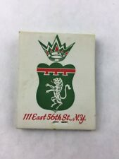 Matchbook Laurent Restaurant New York Continental Cuisine w/ Sticks Collectible