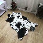 Cow Animal Skin Hide Pelt Faux Fur Rug Cute Area Rug Bedroom Home Decor 74x105cm