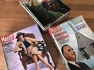 Lot Paris Match Année 1971 Complète - Coco Chanel - Merckx - Deneuve