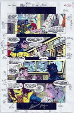 NEW TITANS COMICS #98 OG COLOR PRODUCTION ART SIGNED ADRIENNE ROY COA PG 18