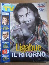 TV Sorrisi e Canzoni n°7 2002 Irene Ferri Ligabue in copertina Zingaretti  [D54]