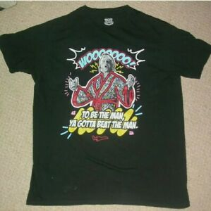 RIC FLAIR WWE SHIRT L LARGE , WCW WWF HALL OF FAME LEGEND WRESTLING UFC MMA GYM