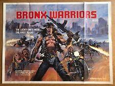 Bronx Warriors - Original British Quad Cinema Movie Poster.