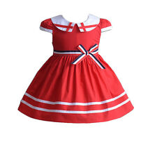 New Baby Girls Red Cotton Summer Party Dress 3-6 Months