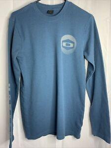 Oakley Mens Blue Small Long Sleeve Thermal Logo Shirt