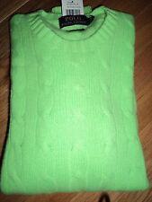 +++nwt $398 Polo Ralph Lauren 100% Cashmere Sweater sz L+++