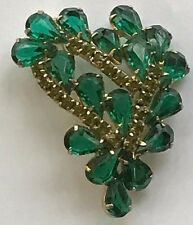 JULIANA Faux Peridot Emerald Green and Yellow Prong Set Stones in Pin or Brooch