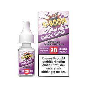 E Liquid K-Boom Grape Bomb Nikotinsalz Traube Frische 20 mg/ml Nikotin