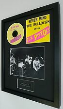 The Sex Pistols Framed Original Never Mind The Bollocks CD-Plaque-Sid Vicious