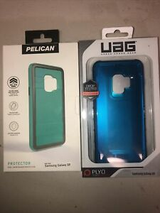 Lot Of 2pc Authentic New Samsung S9 Pelican Case And Uag Case