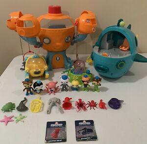 Octonauts Octopod & Midnight Gup A Mixed Lot Of Figures & Vehicles