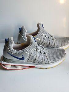 Nike Shox Gravity Men's Size 12 Training Shoes Grey/Red/Blue AR1999-046