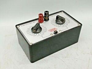 USED EICO RTMA Resistance Box # 1100, Resistor Substitution Box