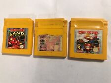 3 x NINTENDO GAMEBOY COLOR DK GAMES CARTRIDGES DONKEY KONG LAND 1 I 2 II & 3 III
