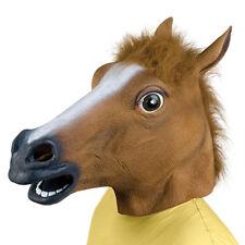 Horse Head Mask Latex Animal Costume Prop Gangnam Toys Party Halloween FE