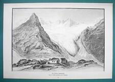 AUSTRIA Tyrol Alps Zemmgrund Zillertal - 1890s Victorian Era Print