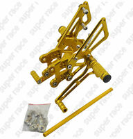Gold CNC Rearset Foot pegs Rear set For Kawasaki ZX14R ZZR1400 06-11