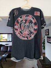 Affliction CHICA T-Shirt L Skull Custom Cycles Huntington Beach 1995 333