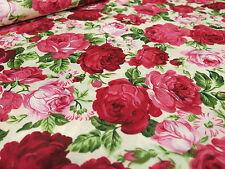 0,5m Bronze Herzen auf zart Lila,Rosen Herzen Muster Baumwolle Satin Hochzeit