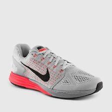 7bd0d833b0a0 Nike Lunarglide 7 Mens Tennis Shoes Gray Neon Orange 15