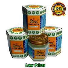 3 x 30 G TIGER BALM HERBAL WHITE OINTMENT MASSAGE RELIEF MUSCLE Aches & Pains A+