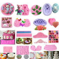 3D Silicone Fondant Mould Cake Mold Chocolate Baking Sugarcraft Decorating Tools