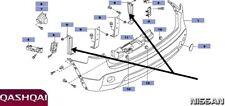 Nissan Qashqai J10E JJ10E Parachoques Trasero Retención Soporte 79184-JD000