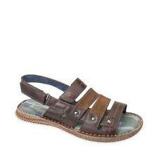 VALLEVERDE 20826 sandali scarpe uomo in pelle marrone