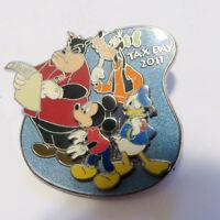 Disney Tax Day 2011 Pete Mickey Goofy Donald Pin