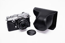 Genuine Real Leather Full Camera Case Bag Cover for Olympus PEN-F PEN F Black