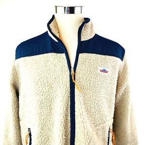 Penfield Retro X Sherpa Fleece Fuzzy fleece Full Zip Sweatshirt Jacket Mens XL