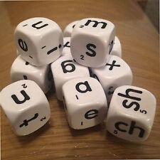 Jumbo Alfabeto Educativo DADI con lettere minuscole 12 22 MM a sei lati (D120)