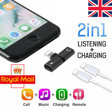2in1 Lightning Adapter Splitter Dual Headphone Audio & Charger iPhone X 7 8 Plus