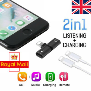 2in1 Adapter Splitter Dual Headphone Audio & Charger For iPhone 13 12 XR 7 8+ SE