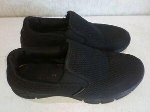 Sketchers Men's Black Slip On  Memory Foam Shoes Trainers UK 9.5