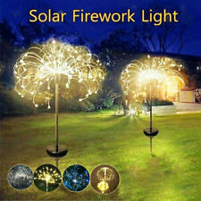 LED Solar Powered Fairy Light Dandelion Flower Lamp Garden Lawn Xmas Lights DIY