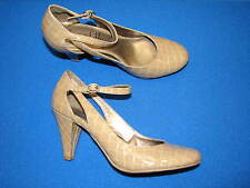 7.5 M Sam & Libby Ladies Tan Beige Neutral Nude Womens Shoes Faux Leather Heels